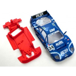 Chasis F40 Block AW compatible con Scalextric