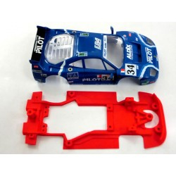 Chasis F40 Block Lineal compatible con Scalextric