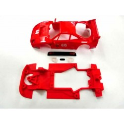 Chasis F40 Block lineal con accesorios compatible con Scalextric