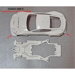 Chasis Aston DBR9 para carroceria sin spoiler compatible B. Arrow