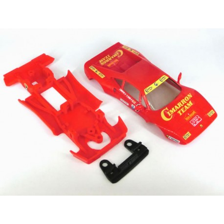 Chasis F-GTO lineal completo compatible Scalextric