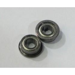 2 x rodamiento acero pestaña simple 3x6mm