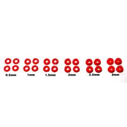 24 x separadores para eje de 0.5 / 1 / 1.5 / 2 / 2.5 y 3mm