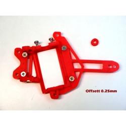 Soporte motor Flat Pro 24H V12 LMR / 911 GT1 offsett 0.25