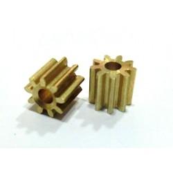 Piñones 9 dientes largo diametro 5.4mm