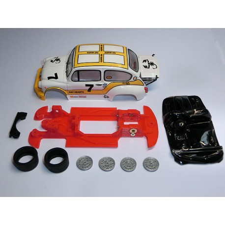 Kit Chasis 600 Abarth 1000 TCR Block lineal compatible Scalextric