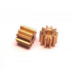 Piñones 10 dientes diametro 6mm